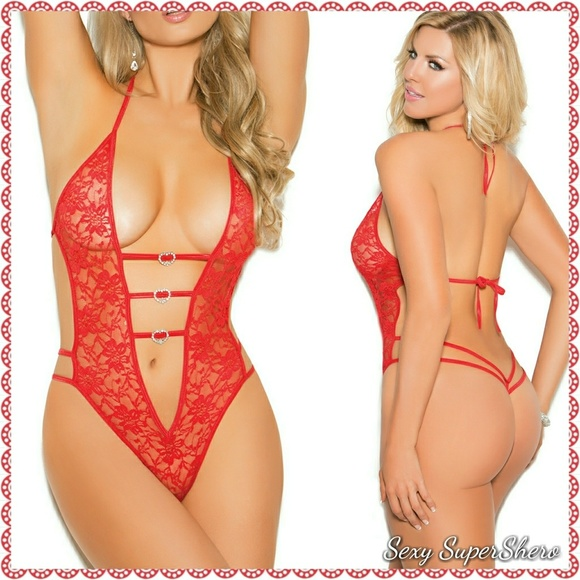 Lover Lace Lingerie teddy with Rhinestones. Boutique. Sexy SuperShero 74cdc621e1f